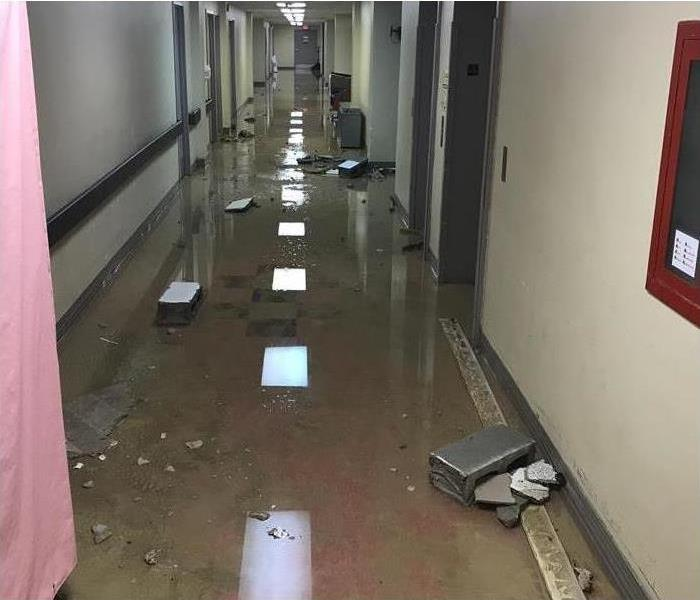 Flooded Commercial Property Hallway